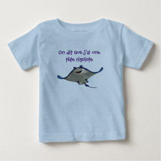 Camiseta Para Bebê t-shirt risca cabeça engraçado