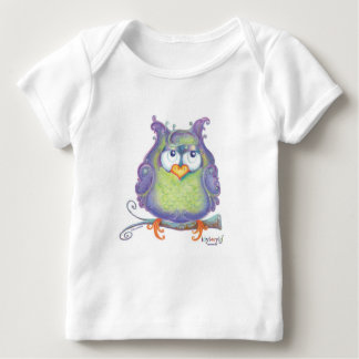 Long-sleeved purple owl t-shirt