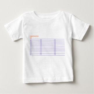 Camiseta Para Bebê T-shirt simples do bebê da lista de verificação do