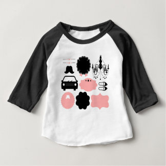 Camiseta Para Bebê T-shirt surpreendentes dos bigodes do vintage