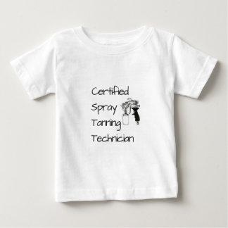 Camiseta Para Bebê T-shirt Tanning certificado do técnico do