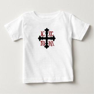 Camiseta Para Bebê T-shirt transversal macio infantil do algodão ICXC