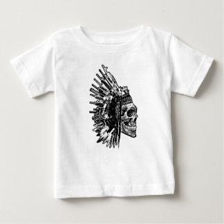 Camiseta Para Bebê T-shirt tribal do gráfico do crânio, das armas e