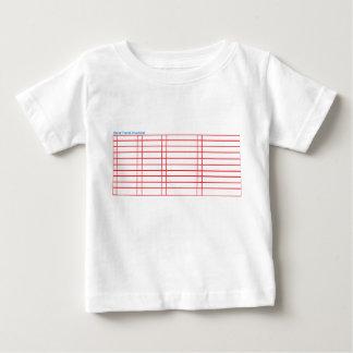 Camiseta Para Bebê T-shirt vazio da lista de verificação do viagem do