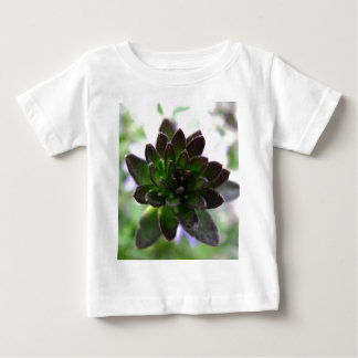 Camiseta Para Bebê T-shirt verde da criança do pintinho
