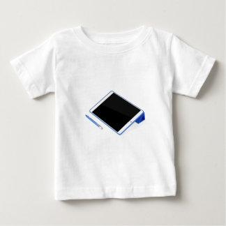 Camiseta Para Bebê Tabuleta no suporte e na caneta digital