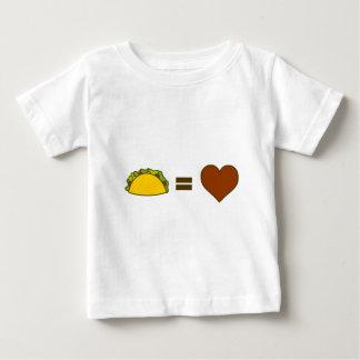 Camiseta Para Bebê Taco=Love