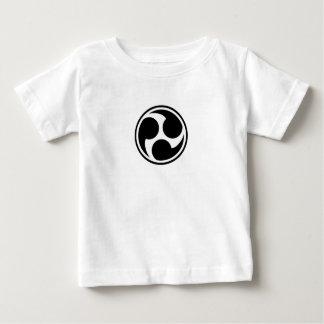 Camiseta Para Bebê Taiko preto Mitsudomoe