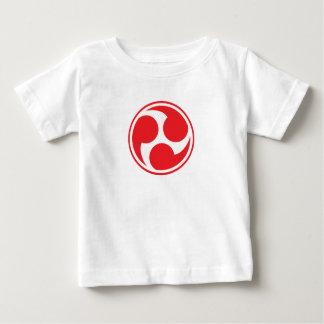 Camiseta Para Bebê Taiko vermelho Mitsudomoe