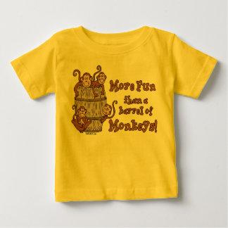 Camiseta Para Bebê Tambor do t-shirt da criança dos macacos