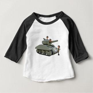 Camiseta Para Bebê Tanque e soldados dos desenhos animados na