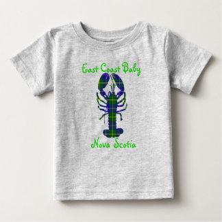 Camiseta Para Bebê Tartan Canadá de Nova Escócia da lagosta do bebê