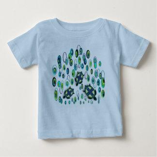 Camiseta Para Bebê tartaruga 37 de turquesa