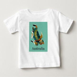 Camiseta Para Bebê Tartaruga de mar australiana animador