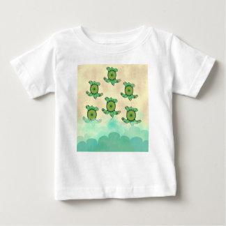 Camiseta Para Bebê Tartarugas do bebê