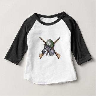 Camiseta Para Bebê Tatuagem cruzado capacete dos rifles do lobo