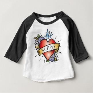 Camiseta Para Bebê Tatuagem das mamães