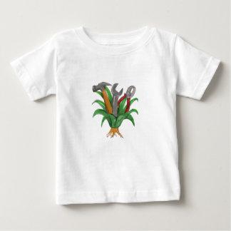 Camiseta Para Bebê Tatuagem de conexão em cascata da água dos peixes