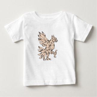 Camiseta Para Bebê Tatuagem de Cuauhtli Glifo Eagle