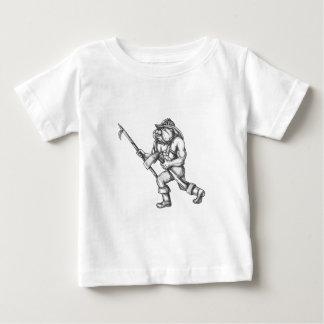Camiseta Para Bebê Tatuagem do machado do fogo de Pike Pólo do