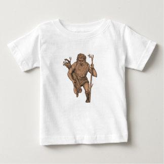 Camiseta Para Bebê Tatuagem dos funcionarios de Runk da árvore de