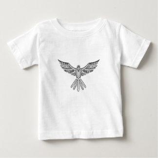 Camiseta Para Bebê Tatuagem tribal da pomba