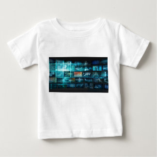 Camiseta Para Bebê Tecnologia da informação ou ELE Infotech como uma