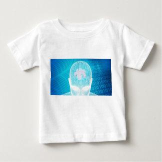 Camiseta Para Bebê Tecnologia futurista com a microplaqueta Soluti do