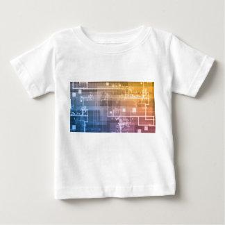 Camiseta Para Bebê Tecnologia futurista como uma arte da próxima