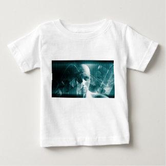 Camiseta Para Bebê Tecnologia futurista da ciência médica como uma