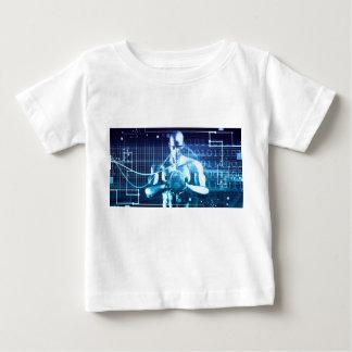 Camiseta Para Bebê Tecnologias integradas em um conceito nivelado