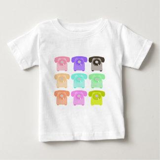 Camiseta Para Bebê telefone do seletor giratório do vintage