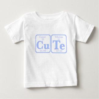 Camiseta Para Bebê Telúrio de cobre (CuTe) -- Azul