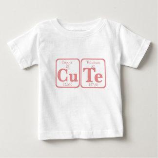 Camiseta Para Bebê Telúrio de cobre (CuTe) -- Rosa