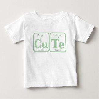 Camiseta Para Bebê Telúrio de cobre (CuTe) -- Verde