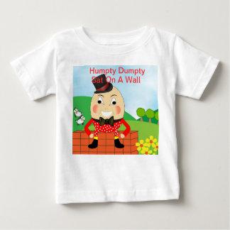 Camiseta Para Bebê Tema da rima de berçário de Humpty Dumpty
