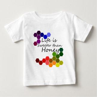 Camiseta Para Bebê Tema do mel com palavras positivas