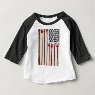 Camiseta Para Bebê Tema patriótico da música da guitarra da bandeira