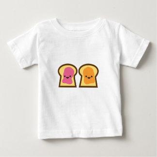Camiseta Para Bebê Tempo da geléia da manteiga de amendoim