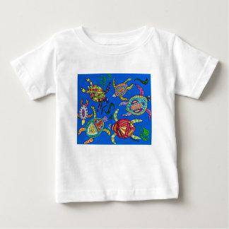 Camiseta Para Bebê Tempo da tartaruga