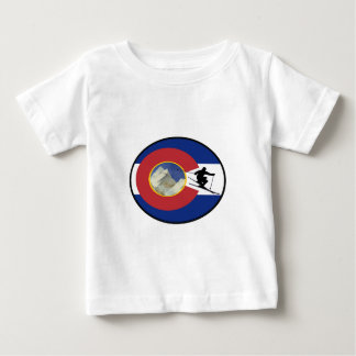 CAMISETA PARA BEBÊ TEMPO DO ESQUI DE COLORADO