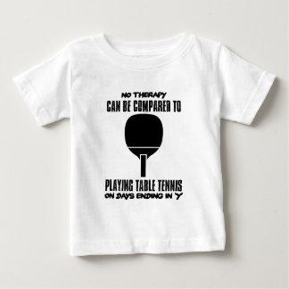 Camiseta Para Bebê Tensão e design impressionante do ténis de mesa