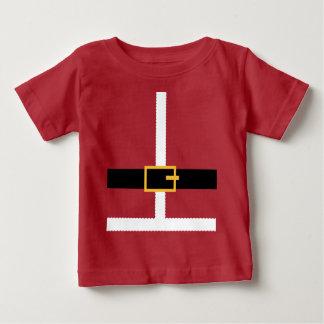 Camiseta Para Bebê Terno de Papai Noel