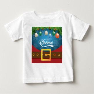 Camiseta Para Bebê Terno do papai noel do Feliz Natal