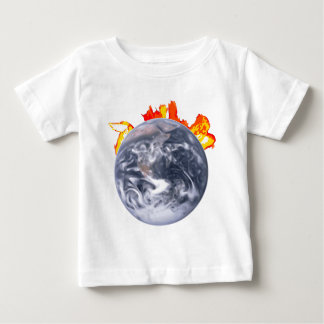 Camiseta Para Bebê Terra do aquecimento global