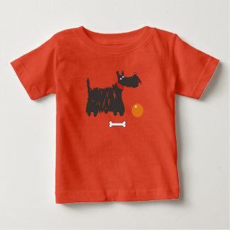 Camiseta Para Bebê Terrier escocês