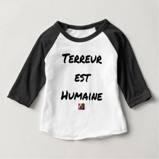 Camiseta Para Bebê TERROR LESTE HUMANO - Jogos de palavras François