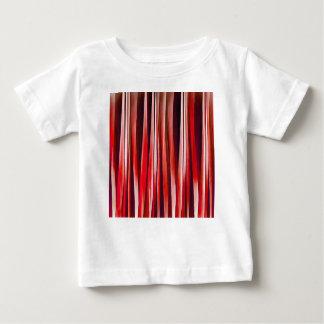 Camiseta Para Bebê Teste padrão abstrato listrado vermelho da