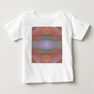 Camiseta Para Bebê Teste padrão artístico da caridade macia moderna