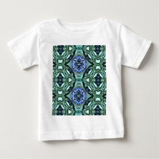 Camiseta Para Bebê Teste padrão artístico do Lilac Funky da cerceta